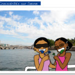 On the «Seine» with the Eiffel tour