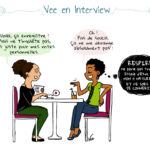 Un lézard en interview